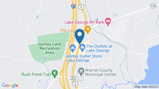 Rodeway Inn Lake George Outlets Map
