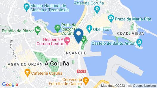 Eurostars Blue Coruña Map