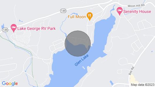 New! Quiet Cabin on Glen Lake w/ Boat Dock & Deck! Map