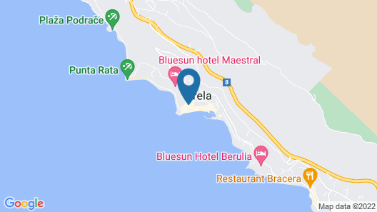 Bluesun Hotel Soline Map