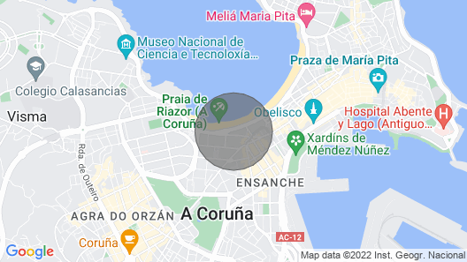 Apartment With Incredible Views of Riazor Beach Map