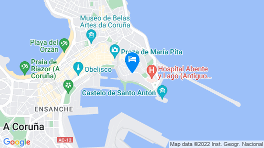 Hotel NH Collection A Coruña Finisterre Map
