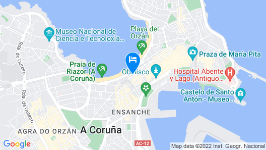 Hotel Zenit Coruña Map