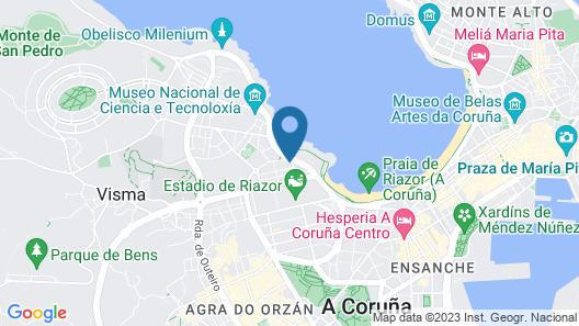 Hotel Coruña Mar Map