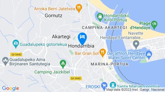 Apartamento Hondarribi Map