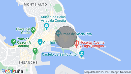 Stone house and gallery in the center of Coruña Map