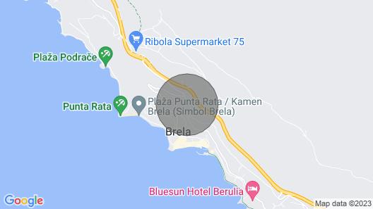 2 bedroom accommodation in Brela Map