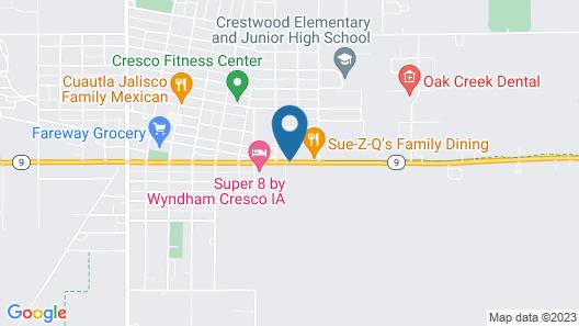 Cresco Motel Map