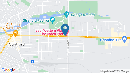 Best Western Plus The Arden Park Hotel Map