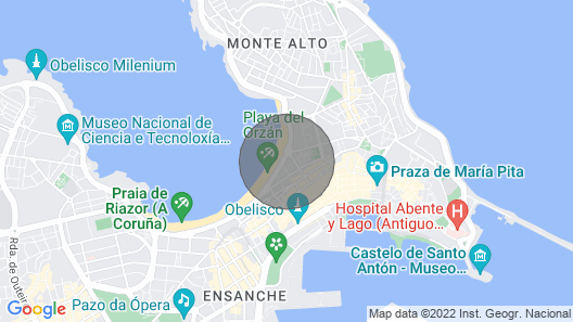 Luxury Duplex IN Paseo Maritimo DE A Coruña. 30 Meters Terrace With Barbecue Map