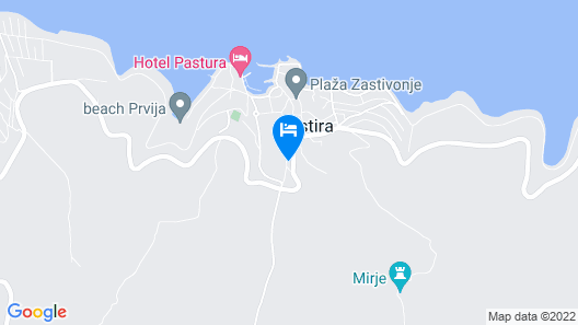 Apartment Postira Meri Map