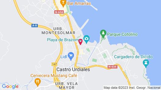 Las Rocas Playa Hotel Map