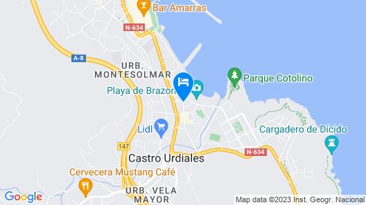 Hotel Sercotel Las Rocas Map