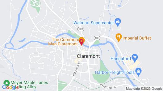 The Common Man Inn & Restaurant Map