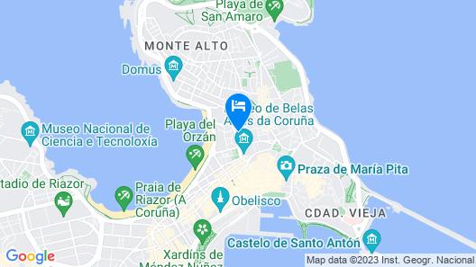 DoubleTree by Hilton A Coruna Map