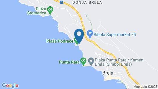 Villa Dalmatia Map