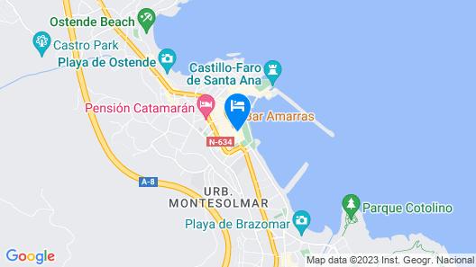 Pensión La Mar Map