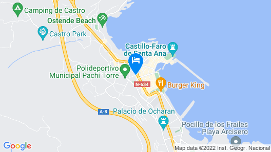 Pensión Catamarán Map
