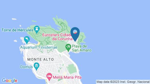 Eurostars Ciudad de la Coruña Map