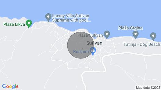 Apartments Damir - Katarina - Sutivan - Island Brac Map