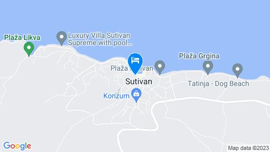 Apartments Jerka Sutivan - Island Brac Map