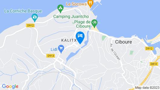 Résidence Fort Socoa Map