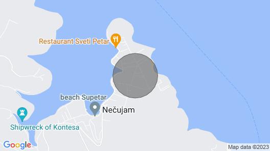 Apartment Goran - Necujam, Island Solta, Croatia Map