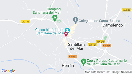 Hotel Santillana Map