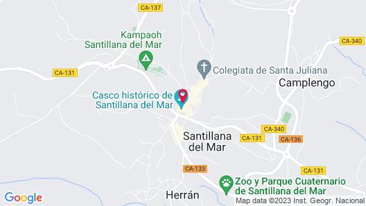 Apartamentos Legado de Santillana Map