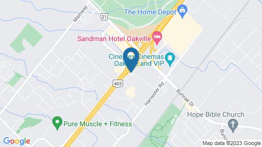 Hilton Garden Inn Toronto/Burlington Map