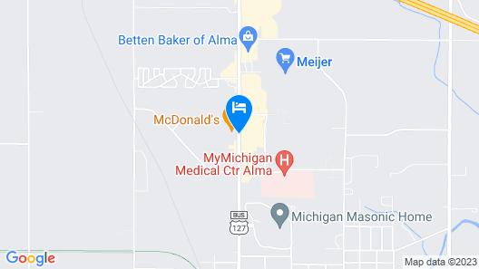 Alma Motel Alma Map