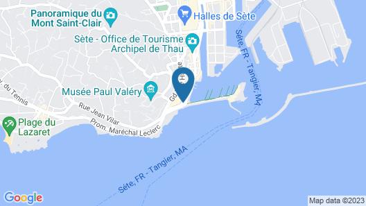 Hôtel Port Marine - Sète Map
