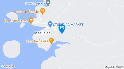 Apartment Toni  A4(4)  - Maslinica, Island Solta, Croatia Map