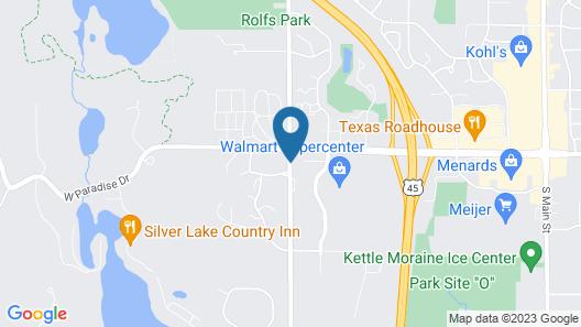 Hampton Inn & Suites West Bend Map