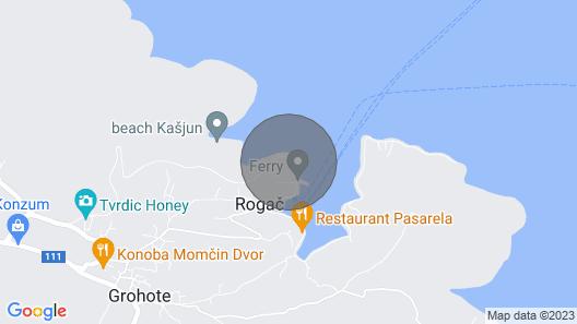 Apartment Ela - Very Close to Beach: - Rogac, Island Solta, Croatia Map