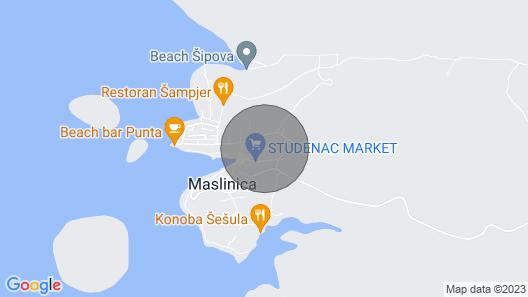 Holiday House Sunce - Maslinica, Island Solta, Croatia Map