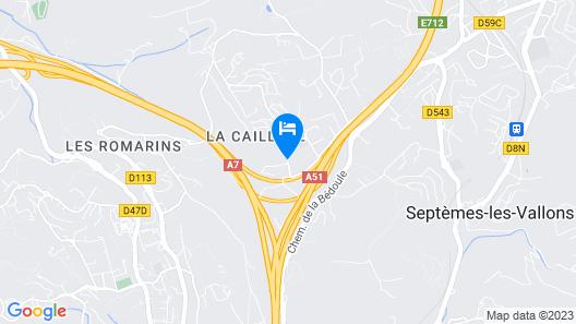 Lemon Hotel - Plan de Campagne Marseille Map