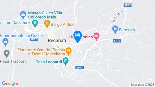 Modern Apartment in Recanati Near Palazzo Venieri Map