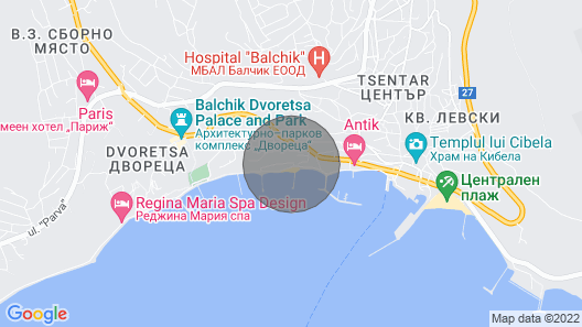 Beach Front Apartment With Great SEA View Map