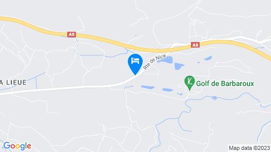 Mercure Brignoles Golf De Barbaroux Map