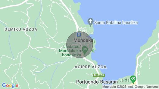 Mundaka Sea & Mountain Views. Wifi, Parking Map