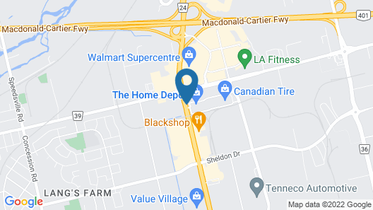 Super 8 by Wyndham Cambridge/Kitchener/Waterloo Area Map