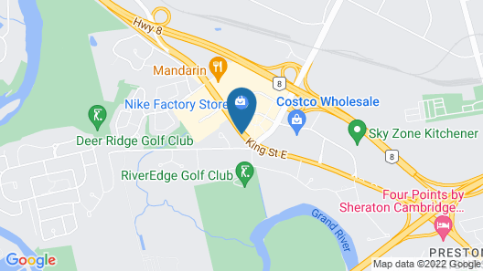 Kitchener Inn & Suites Map