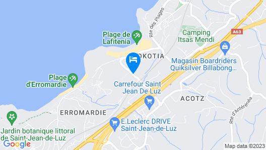 B&B Hotel Saint-Jean-de-Luz Map