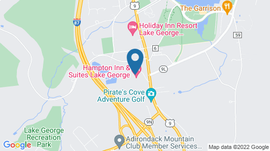 Hampton Inn & Suites Lake George Map