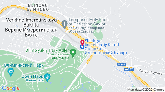 Hostel Terminal Olimpiyskiy park Map