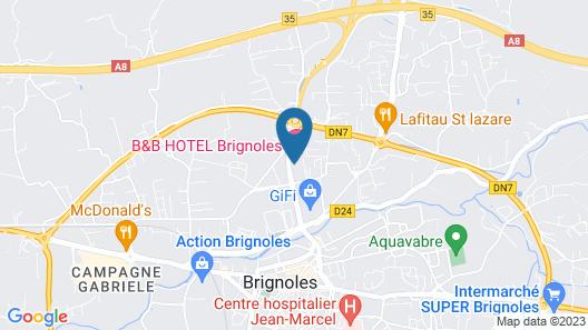 B&B Hotel Brignoles Map