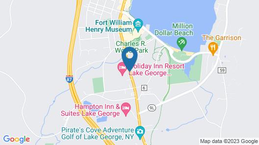 Holiday Inn Lake George Turf Map