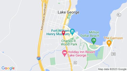 Quality Inn Lake George Map