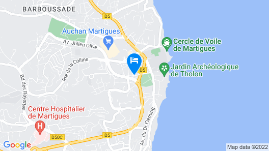 Kyriad Direct Marseille Ouest - Martigues Map